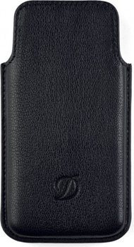 S.T. Dupont Liberté Iphone Case 5 – Grained Black Leather 92217