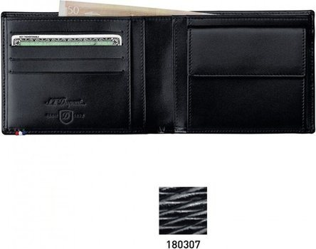 Line D Coin Purse / Credit Cards - Black Contraste