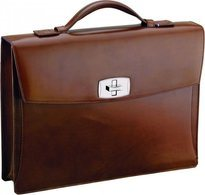 Line D Tourniquet Brief Case – Brown Elysée