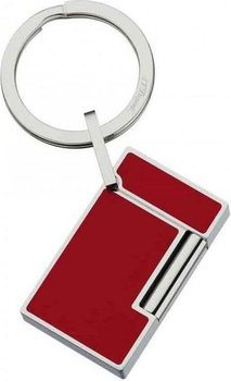 S.T. Dupont  Key Ring Ligne 2 - Lighter Stainless Steel And Red Lacquer 3048